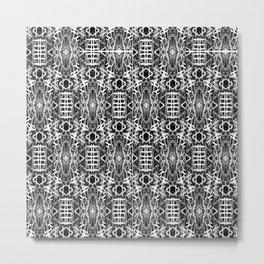 bw texture 10 Metal Print