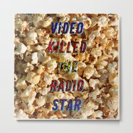 Video killed the Radio Star – A Hell Songbook Edition Metal Print