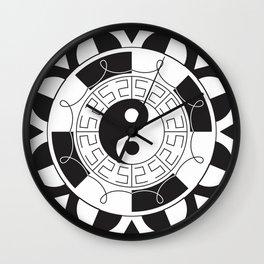 Om Yin Yang Mandala Wall Clock