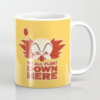 pennywise Mugs featuring We All Float  by Fanboy30