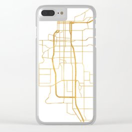 ANCHORAGE ALASKA CITY STREET MAP ART Clear iPhone Case