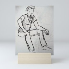Fashion Man Mini Art Print