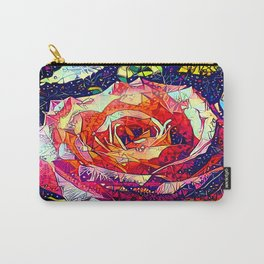 Jeweled Rose Carry-All Pouch