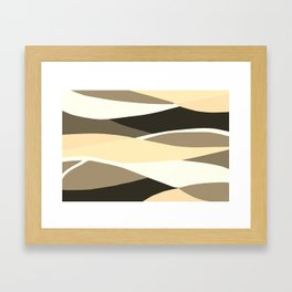 Beige Brown and Taupe Abstract Framed Art Print