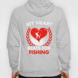 My Heart Beats For Fishing Hoody