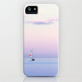 Sailboat Under a Pink Pastel Sky iPhone Case