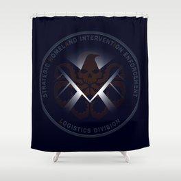 Hidden HYDRA - S.H.I.E.L.D. Logo with Wording Shower Curtain