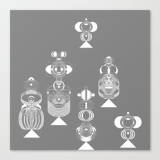 grey menneke Canvas Print