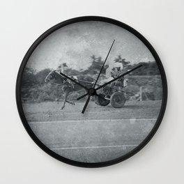 Horse and Cart in Cuba Wall Clock