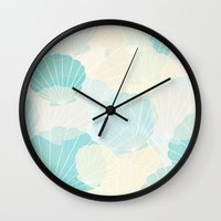 shells Wall Clocks featuring Shells by Karen Hischak