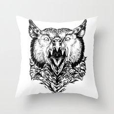Beware the Owlbear Throw Pillow