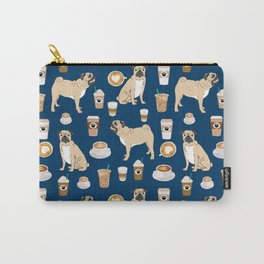 Pug coffee pupuccino dog breed cute pugs pure breed lovers gifts Carry-All Pouch
