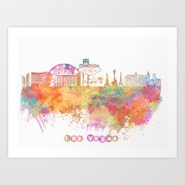 Las Vegas Nevada Skyline  Art Print