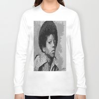 mike wrobel Long Sleeve T-shirts featuring Little Mike by JeleataNicole