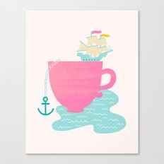 Cup of Sea Canvas Print