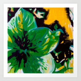 Green Flower Art Print