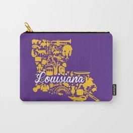 LSU Louisiana Landmark State - Purple and Gold LSU Theme Carry-All Pouch