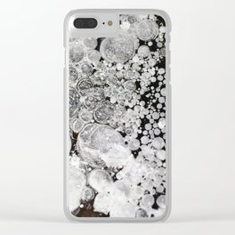 Close up background of melted ice. Clear iPhone Case