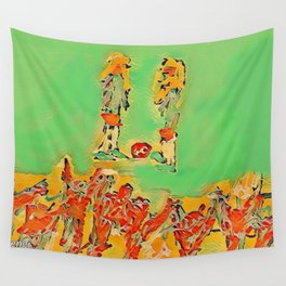 Ball to the center Wall Tapestry
