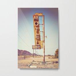 The Motel Metal Print