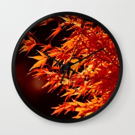 AUTUMN LEAVES - RED MAPLE Wall Clock