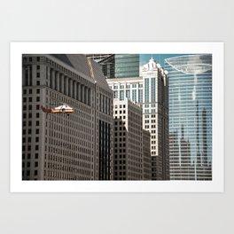 Film-shoot in Chicago Art Print