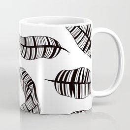 Postmodern Banana Leaves in Black + White Coffee Mug
