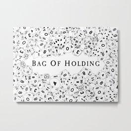 Bag Of Holding Metal Print