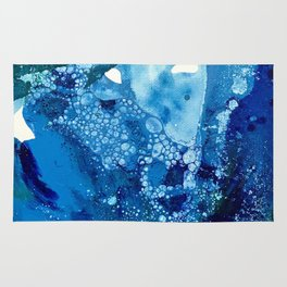 Environmental Blue Leaves, Tiny World Collection Rug