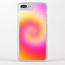 Spiral Of Color Clear iPhone Case