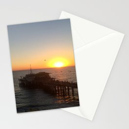 Santa Monica Pier Sunset Stationery Cards