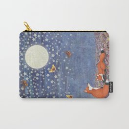 moonlit foxes Carry-All Pouch