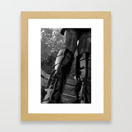 Self-Portrait in my Shitstompers Framed Art Print