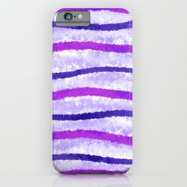 Purple and Pink Wavy Lines Abstract Painting iPhone Case