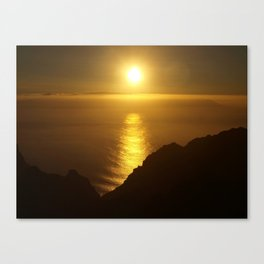 Sunset over the Canary Islands Canvas Print