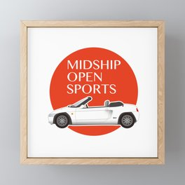 Midship Open Sports Framed Mini Art Print