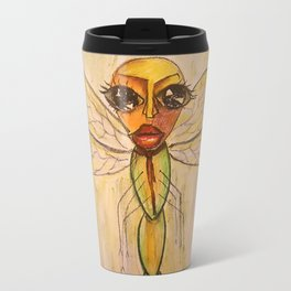 Red Tie Dragonfly Travel Mug