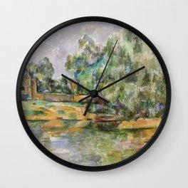Paul Cézanne Riverbank Wall Clock