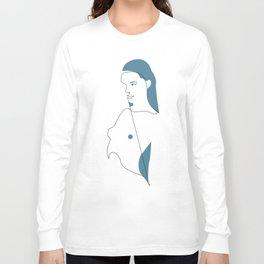 dot - one line art Long Sleeve T-shirt