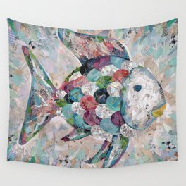 Rainbow Fish Collage Wall Tapestry