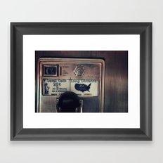 Pay Phone III Framed Art Print