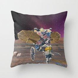 Space scavenger Throw Pillow