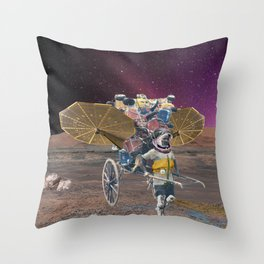 Space scavenger Throw Pillow