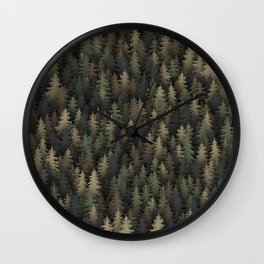 Forest camouflage Wall Clock