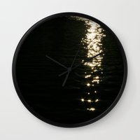 sparkles Wall Clocks featuring Sparkles by Alex Thompson