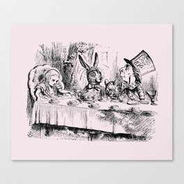 Blush pink - mad hatter's tea party Canvas Print