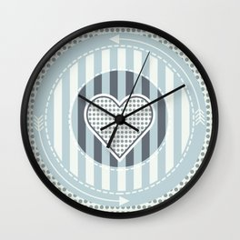 Cute heat Wall Clock