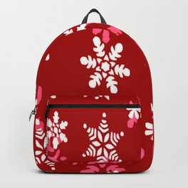 Red Heart Of Snowflakes Loving Winter and Snow Backpack