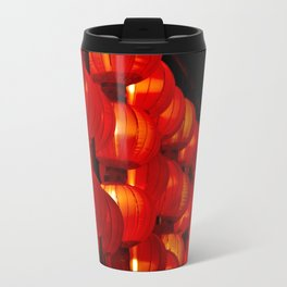 Vibrant red Chinese lanterns Travel Mug