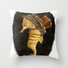 time travels with us Throw Pillow